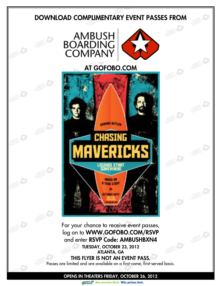 Chasing Mavericks Ambush Boarding Co.