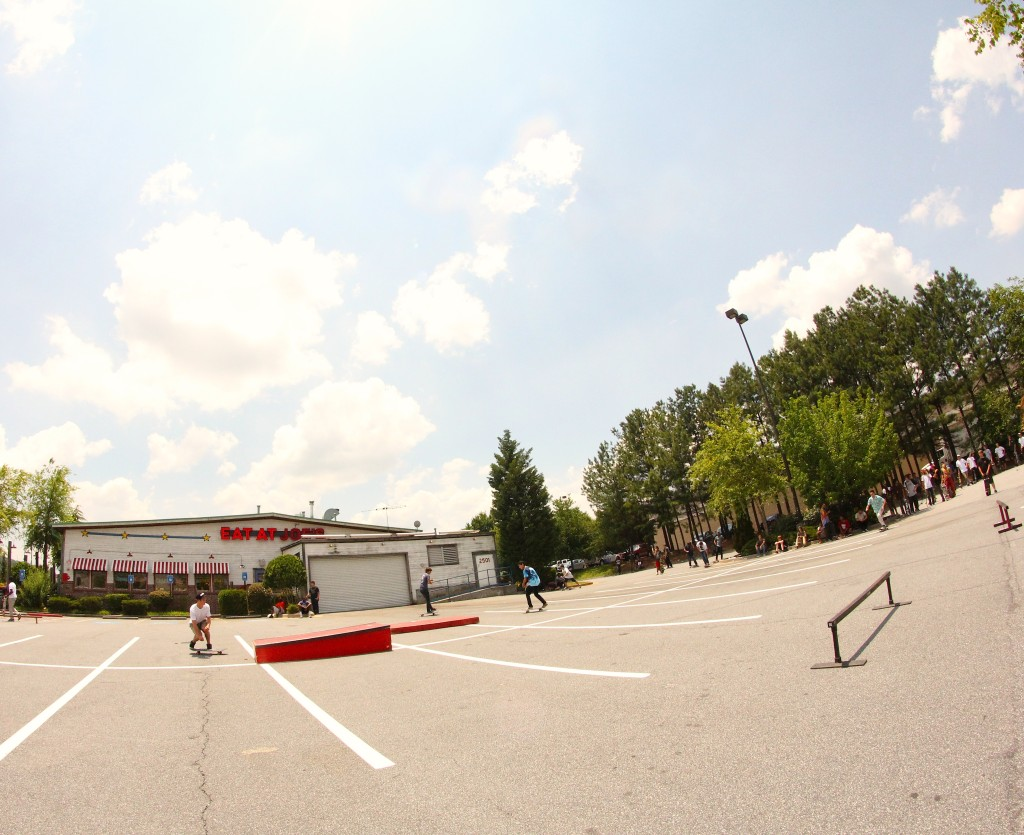 The Go Skateboarding Day Setup