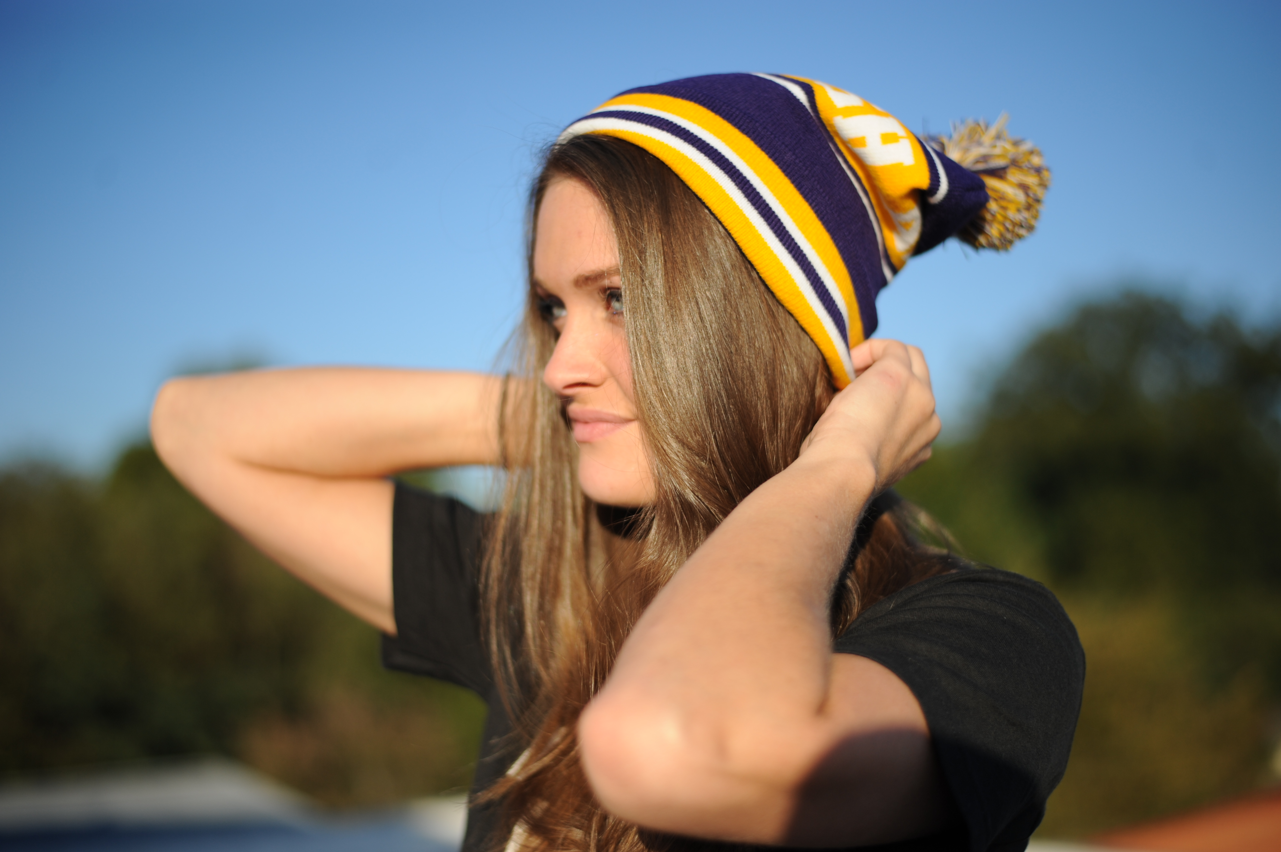 "Ambush Puff beanie in ""Lakers"""