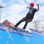 Ambush Team Rider Josh Butler FS tailslide rocking the Party With Ambush Tee