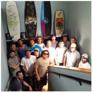 Creative & Sales Team along with Chuck Morrow  (Founder of Ambush) and Tony Finn  (Inventor of wakeboading and founder of Liquid Force)