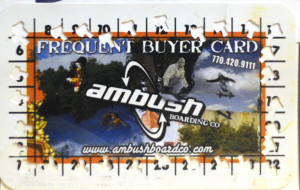 One of the Original Frequent Buyer Cards