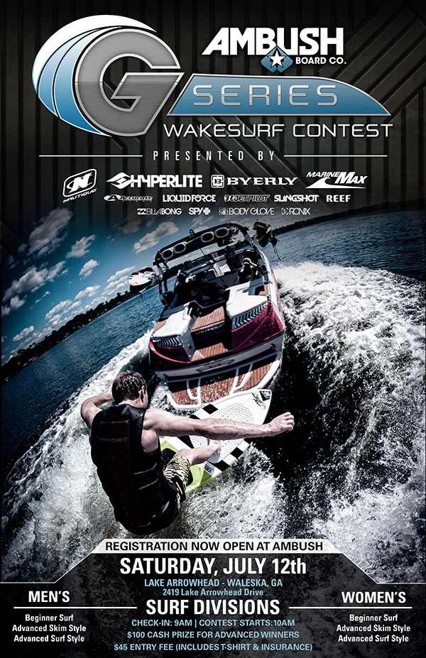 Ambush G- Series Wakesurf Contest