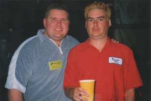 Ambush Owner, Chuck Morrow, with the lead singer of NOFX, Michael Burkett 1998