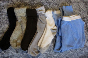 Clean socks and underwear