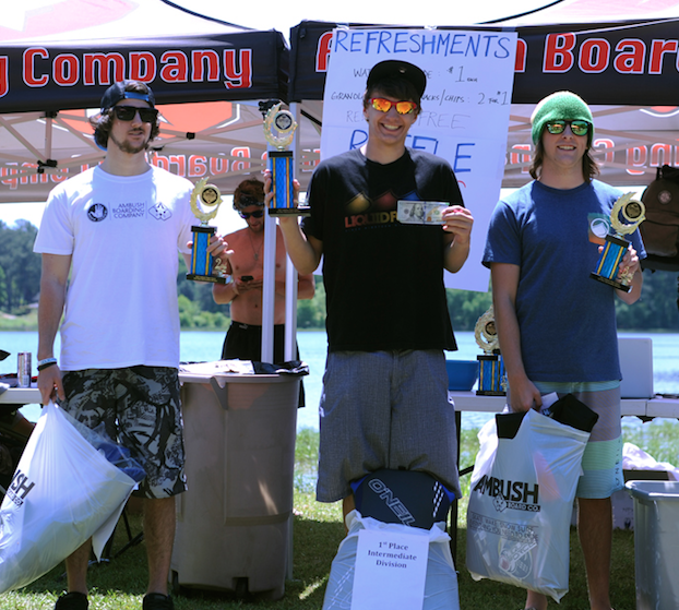 Intermediate Division Podium L to R: Ben Peters, Caleb Sentz, Christian Gunger