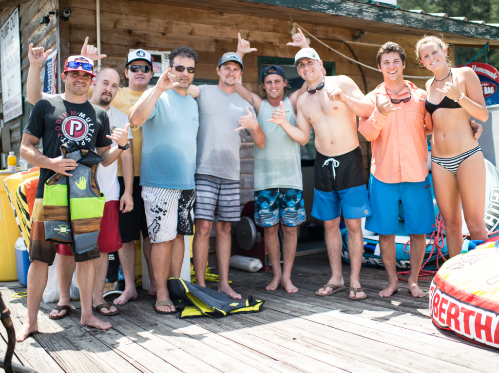 Harley Ride Day Crew (L to R): A.J. Petrillo, Drew Carter, Joe McNulty, Frank Maiolo, Chad Smallwood, Harley Clifford, Kyle Butler, Mac Rubright, Claire Doyle