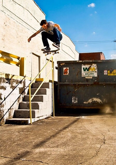 kickflip over rail