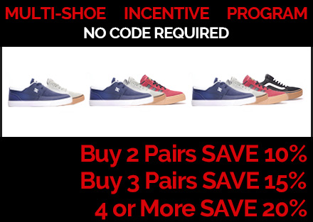 Multi-Shoe Incentive Program | Buy More, Save More, Skate More