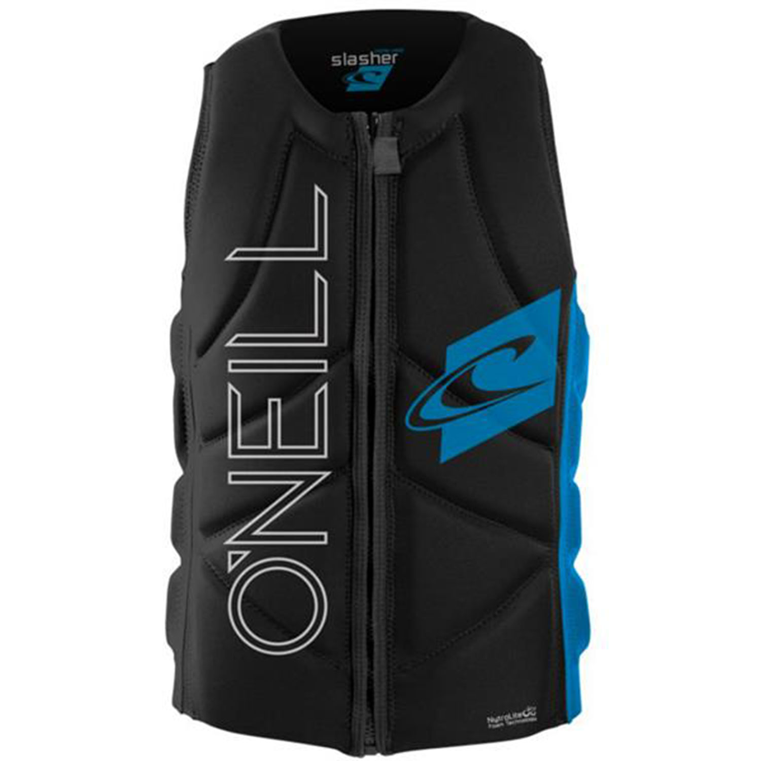 O-039-Neill-2014-Slasher-Comp-Vest-Black-Bright-Blue-Life-Jacket