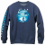 enjoi Tonal Airbrush Panda (Navy/Heather) Crew Sweatshirt
