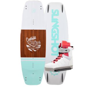 Slingshot 2019 Contrast w/ Jewel Women's Wakeboard & Bindings Package