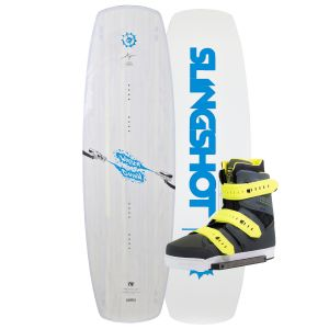 Slingshot 2019 Water Gunn 140 (Light Blue) w/ KTV Wakeboard & Bindings Package
