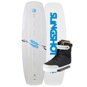Slingshot 2019 Water Gunn 140 (Light Blue) w/ RAD Wakeboard & Bindings Package