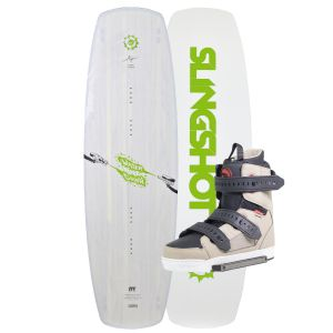 Slingshot 2019 Water Gunn 144 (Green) w/ Shredtown Wakeboard & Bindings Package