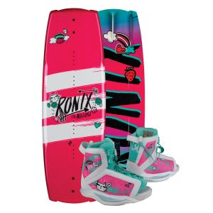 Ronix 2019 August w/ August Kid's Wakeboard & Bindings Package
