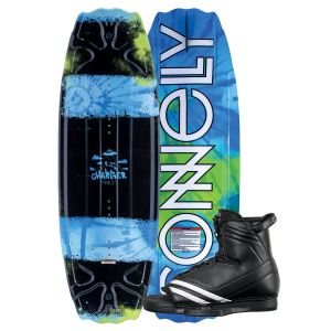 Connelly 2019 Charger w/ Optima Kid's Wakeboard & Bindings Package