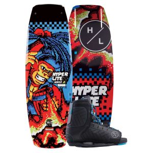 Hyperlite 2019 Murray Jr. w/ Remix Kid's Wakeboard & Bindings Package