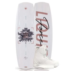 Liquid Force 2019 Aspen 132 w/ Hitch (White) Women's Wakeboard & Bindings Package