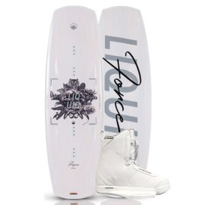 Liquid Force 2019 Aspen 137 w/ Hitch (White) Women's Wakeboard & Bindings Package