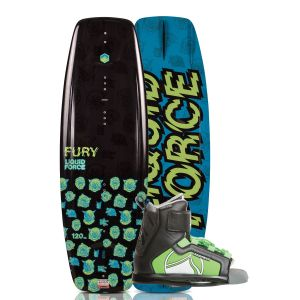 Liquid Force 2019 Fury 120 w/ Rant Kid's Wakeboard & Bindings Package