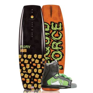 Liquid Force 2019 Fury 125 w/ Rant Kid's Wakeboard & Bindings Package