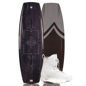 Liquid Force 2019 RDX w/ Hitch (White) Wakeboard & Bindings Package