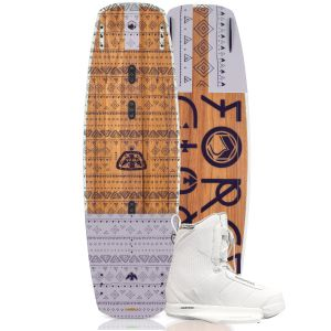 Liquid Force 2019 Vamp 141 w/ Hitch (White) Women's Wakeboard & Bindings Package