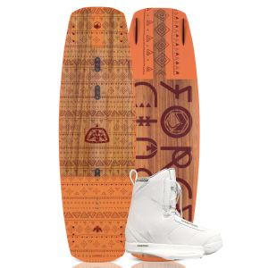 Liquid Force 2019 Vamp 137 w/ Hitch (White) Women's Wakeboard & Bindings Package