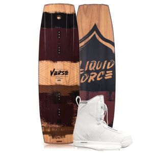 Liquid Force 2019 Verse 138 w/ Hitch (White) Wakeboard & Bindings Package