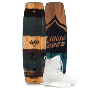 Liquid Force 2019 Verse 142 w/ Hitch (White) Wakeboard & Bindings Package