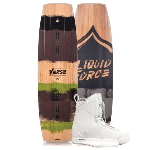 Liquid Force 2019 Verse 146 w/ Hitch (White) Wakeboard & Bindings Package