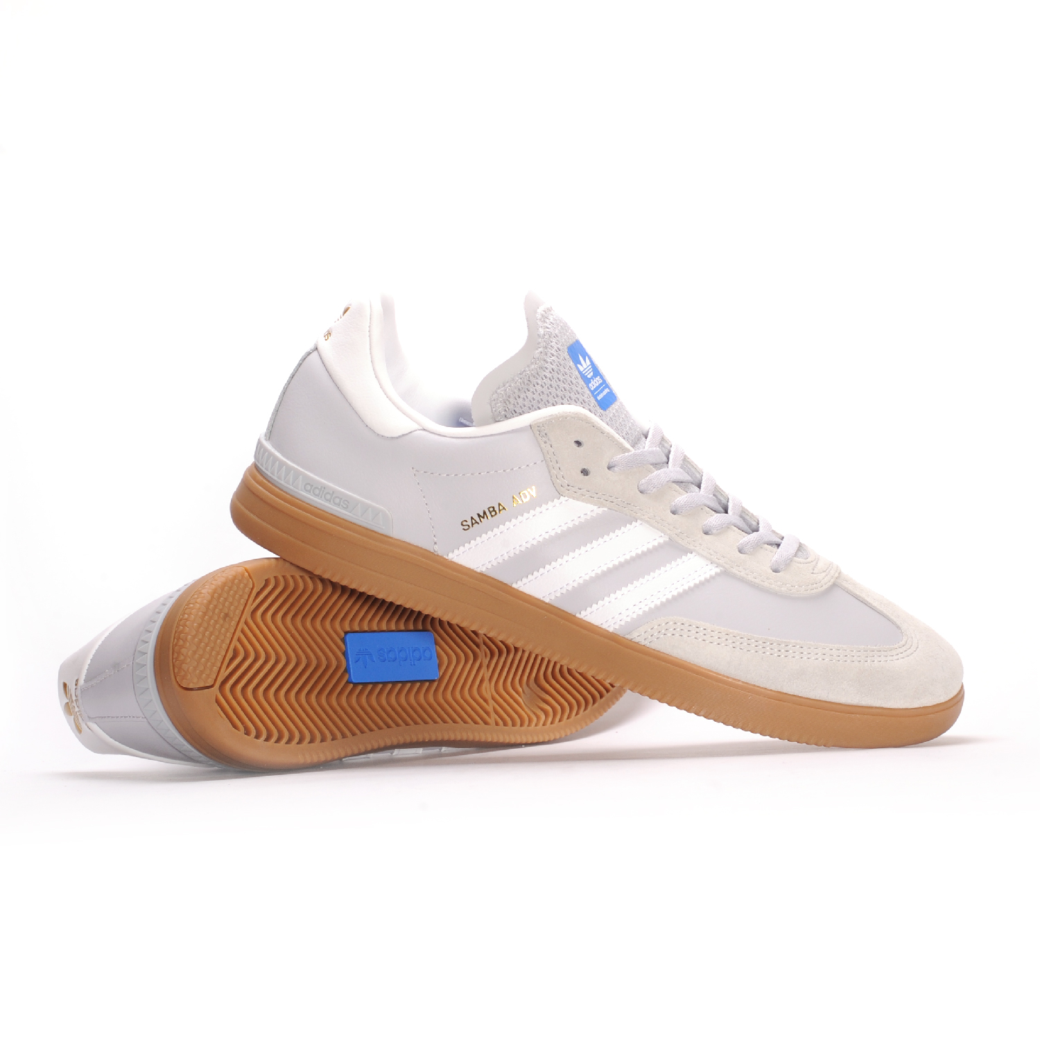 adidas samba adv lgh solid grey white blue bird men 39 s. Black Bedroom Furniture Sets. Home Design Ideas