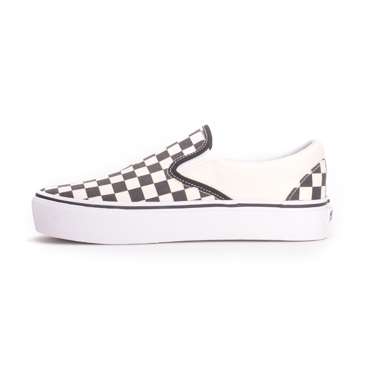 9d62dccf49a Vans Classic Slip-On Platform (Black and White Checkerboard) Women s Shoes  3 3 of 6 ...
