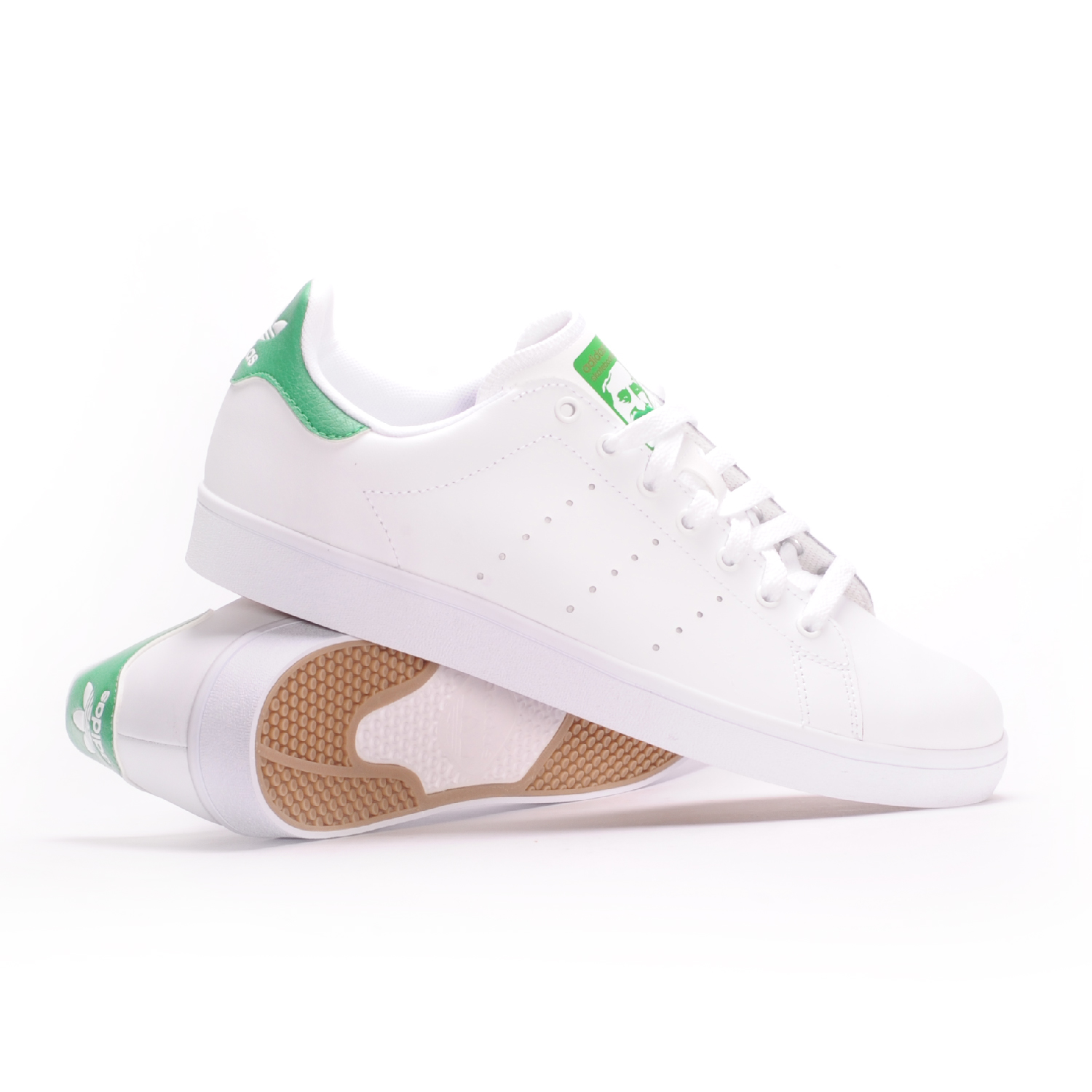 Image is loading Adidas-Stan-Smith-Vulc-White-White-Green-Men-