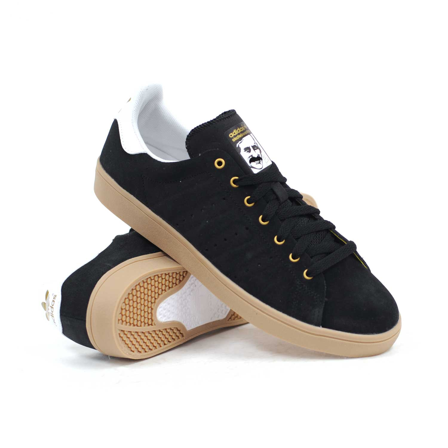 adidas stan smith vulc black white gum men 39 s skate shoes. Black Bedroom Furniture Sets. Home Design Ideas