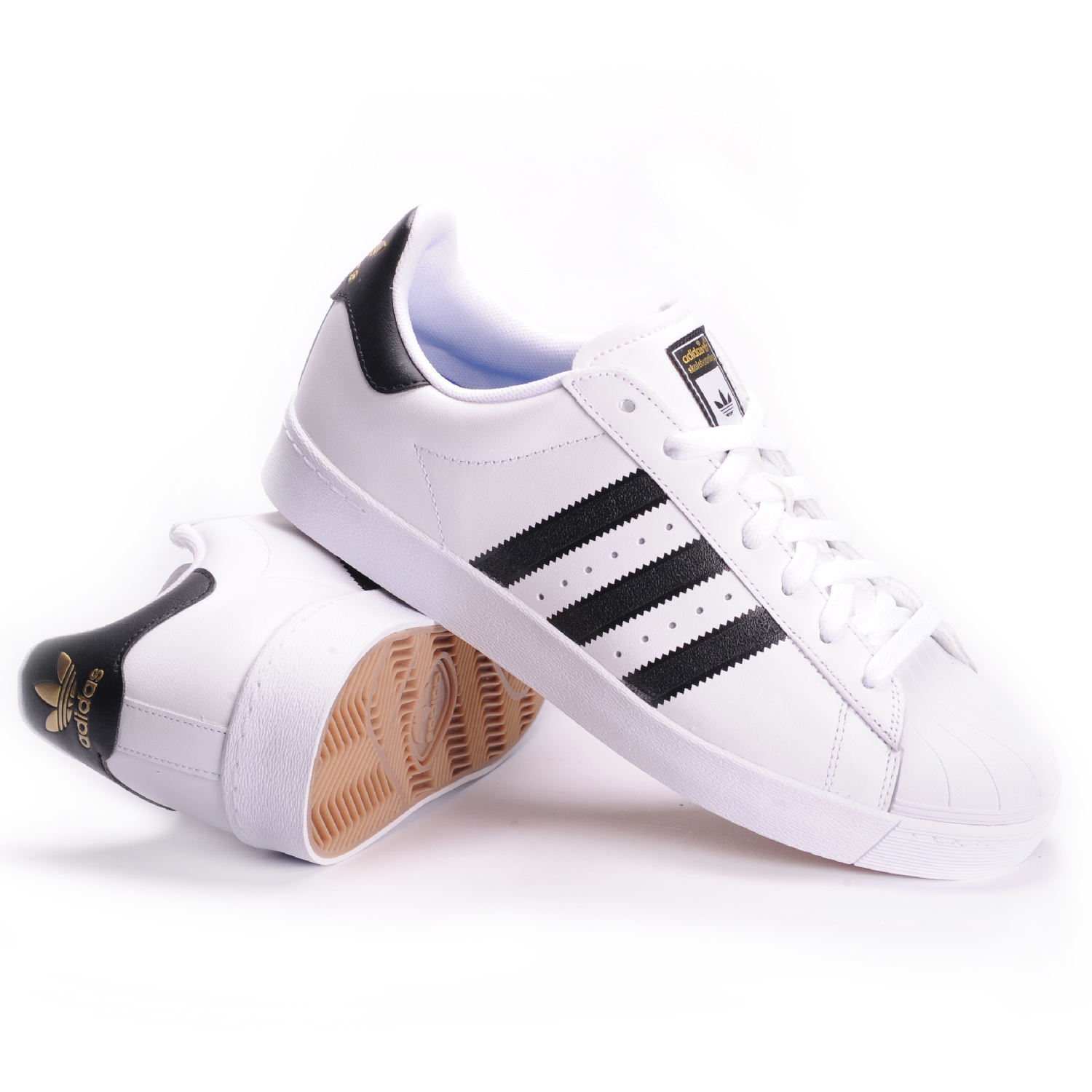 Adidas Men's Superstar Foundation Leather Sneaker, White/Navy