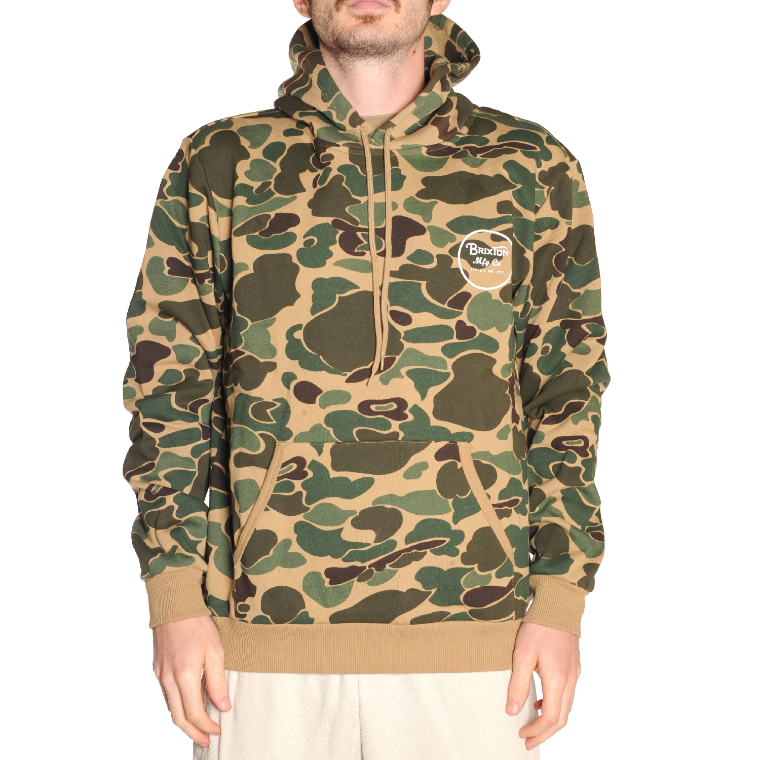 Brixton Wheeler (olive Camo) Pullover Hoodie Large Camo | eBay