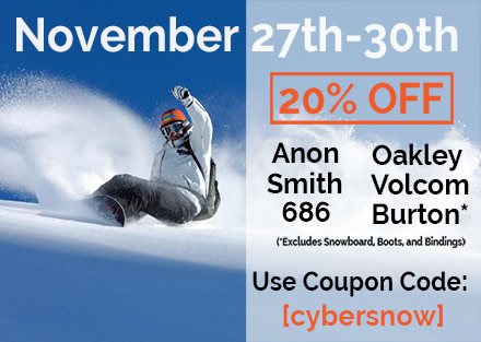20% off Select Snowboarding Gear