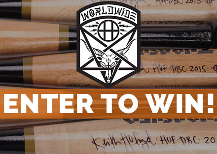 Enter to Win an Autographed HUF x Thrasher Mini Bat