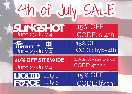 Ambush Board Co. 4th of July Sale 2016