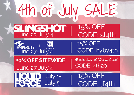 BuyWake 4th of July Sale 2016