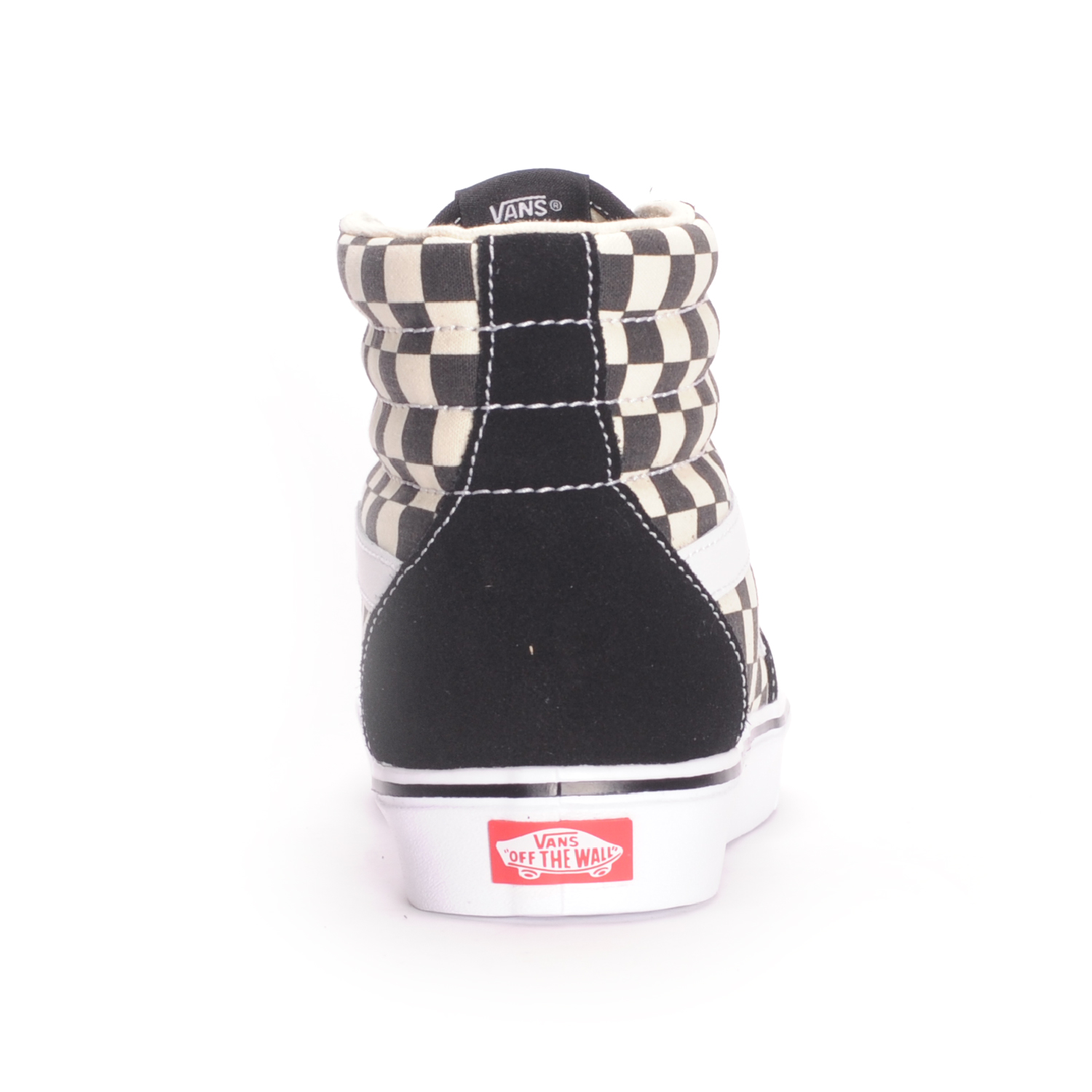 Vans-Sk8-Hi-Lite-Checkerboard-Black-White-Men-039-s-Skate-Shoes thumbnail 3